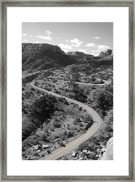 Framed Print featuring the photograph Cnm Switchbacks by Dylan Punke
