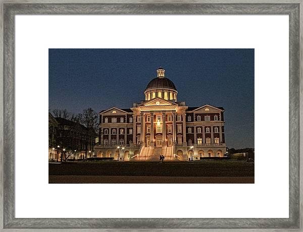 Christopher Newport Hall At Christopher Newport University Framed Print