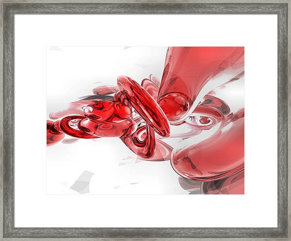 Coagulation Abstract Framed Print