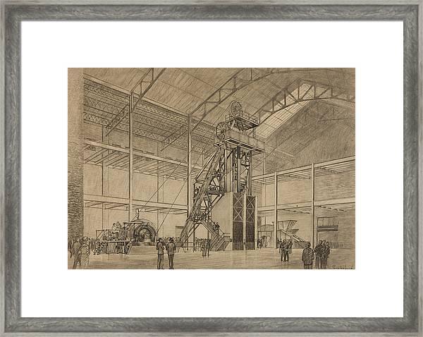 Coal Mine Hoist Framed Print