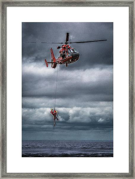 Coast Guard Rescue Operation  Framed Print