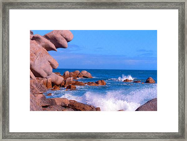 Coast Of Brittany Framed Print