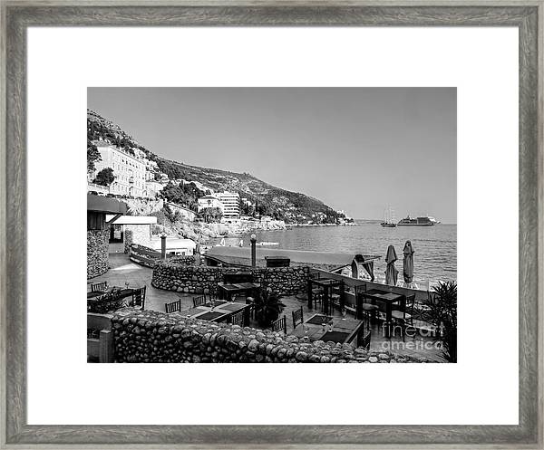 Coast Of Dubrovnik Framed Print