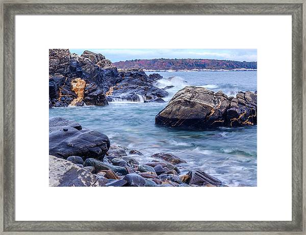 Coast Of Maine In Autumn Framed Print
