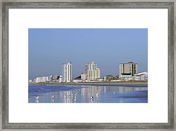 Coastal Architecture Framed Print