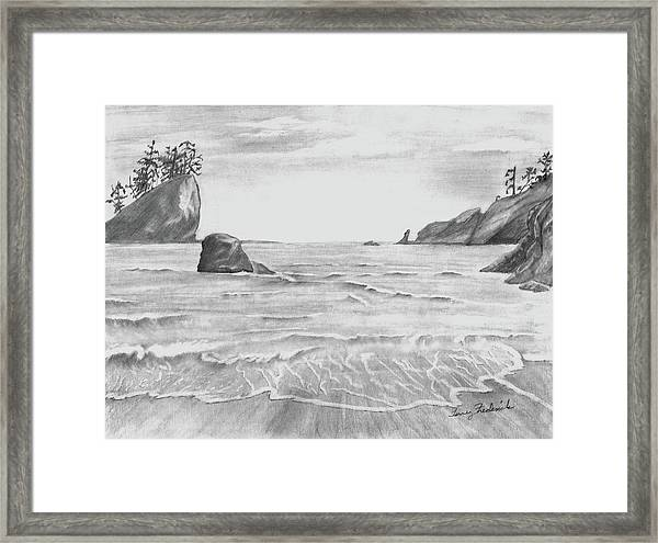 Coastal Beach Framed Print