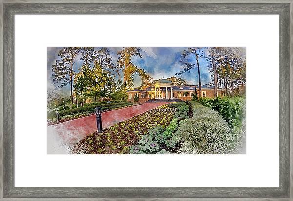 Coastal Carolina University Digital Watercolor Framed Print