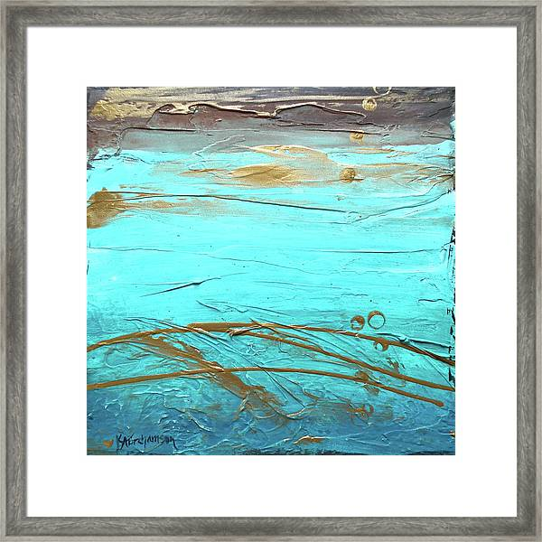 Coastal Escape II Textured Abstract Framed Print