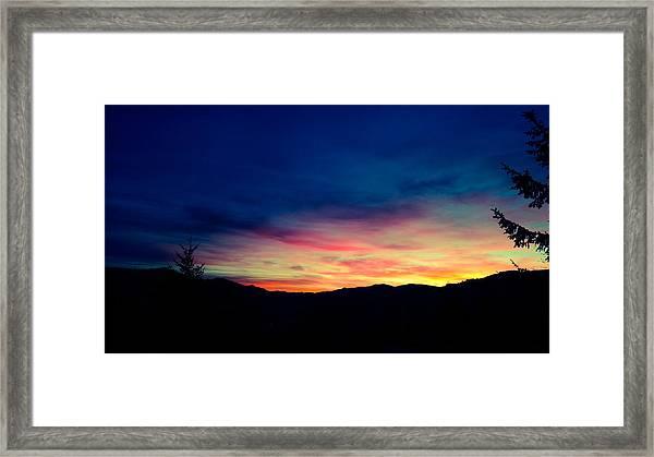 Coastal Mountain Sunrise Ix Framed Print