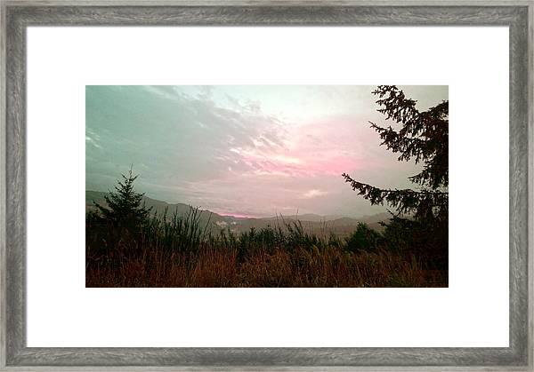 Coastal Mountain Sunrise Viii Framed Print