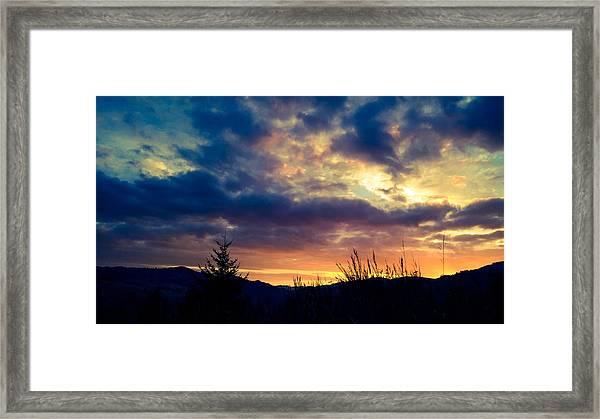 Coastal Mountain Sunrise X Framed Print