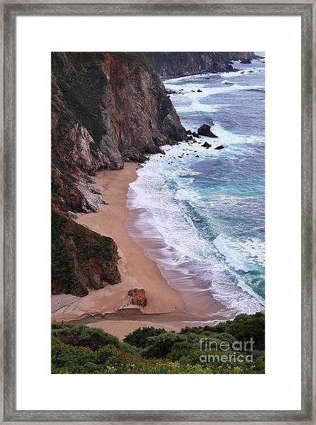 Coastal View At Big Sur Framed Print