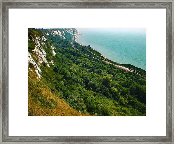 Coastline, Folkestone, Kent, England Framed Print