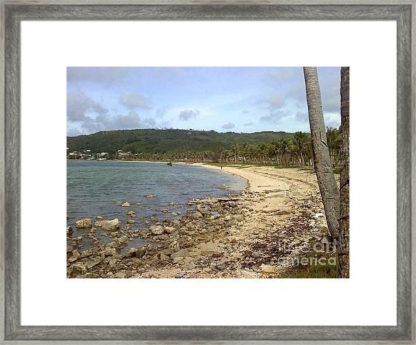 Coastline In Guam II Framed Print