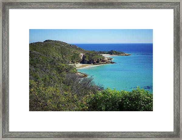 Coastline Views On Moreton Island Framed Print