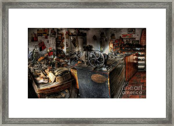 Cobbler's Shop Framed Print