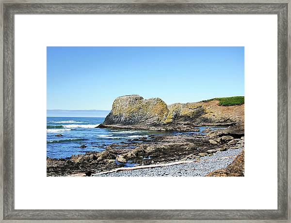 Cobblestone Beach Framed Print