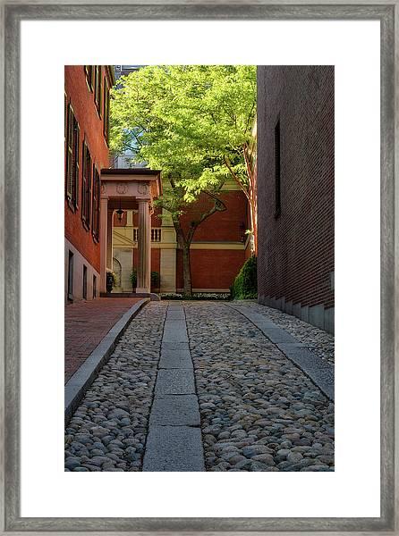 Cobblestone Drive Framed Print