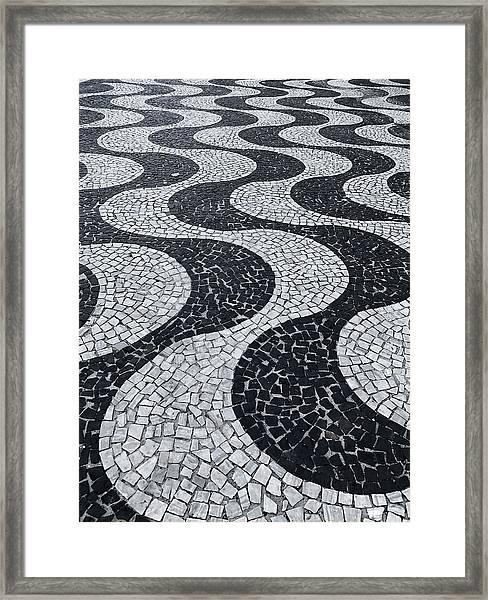 Cobblestone Waves Framed Print