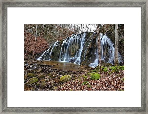 Cobweb Falls Framed Print