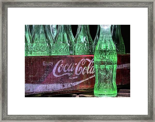 Coca-cola As Art Framed Print
