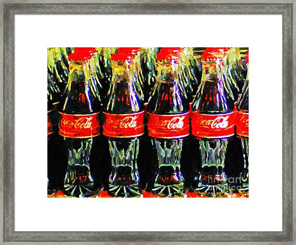Coca Cola Coke Bottles Framed Print