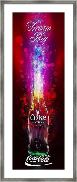 Coca-cola Dream Big Framed Print