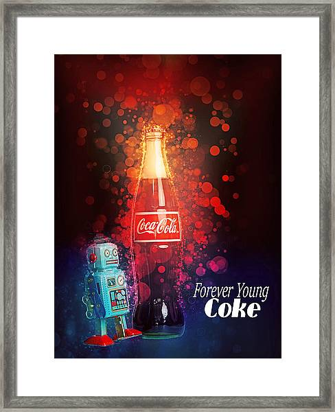 Coca-cola Forever Young 15 Framed Print