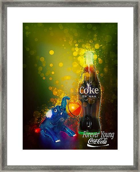 Coca-cola Forever Young 3 Framed Print