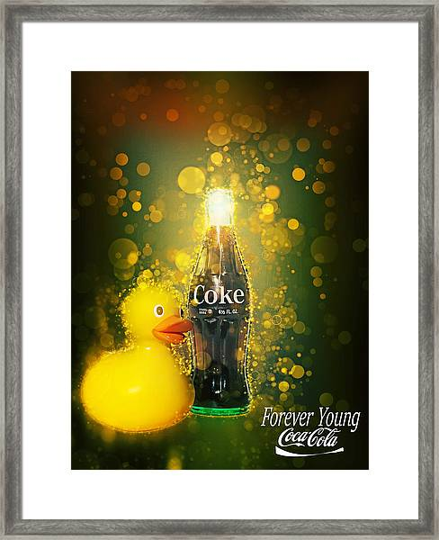 Coca-cola Forever Young 5 Framed Print