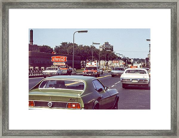 Coca Cola Plant On Central Ave Framed Print
