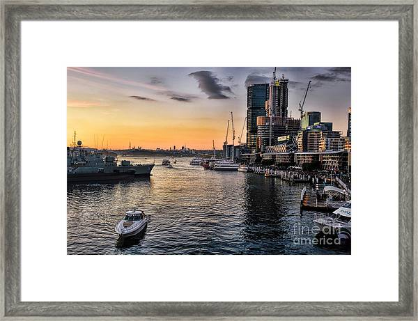 Cockle Bay Wharf Framed Print