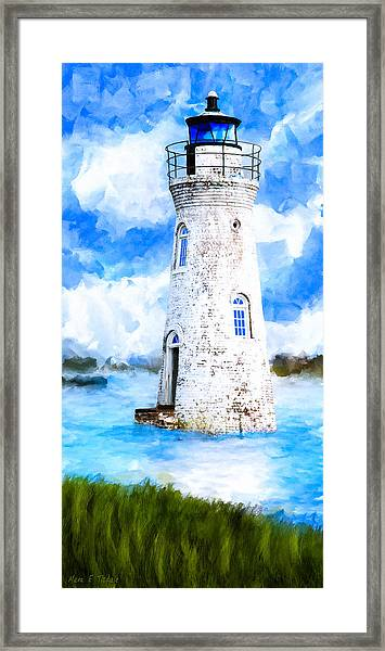 Cockspur Island Light - Georgia Coast Framed Print