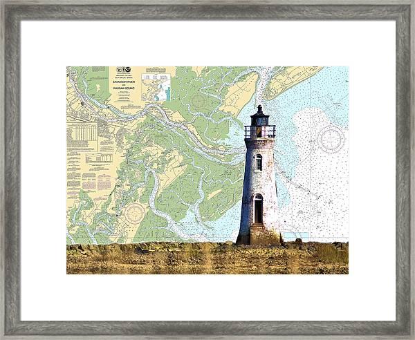 Cockspur On Navigation Chart Framed Print