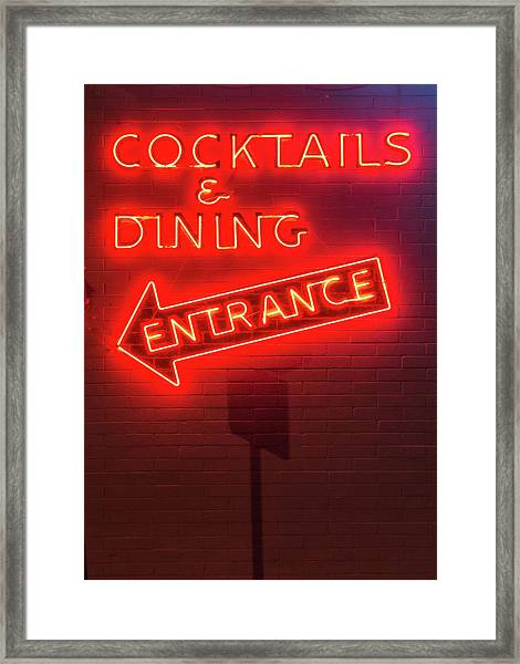 Cocktails And Dining Framed Print