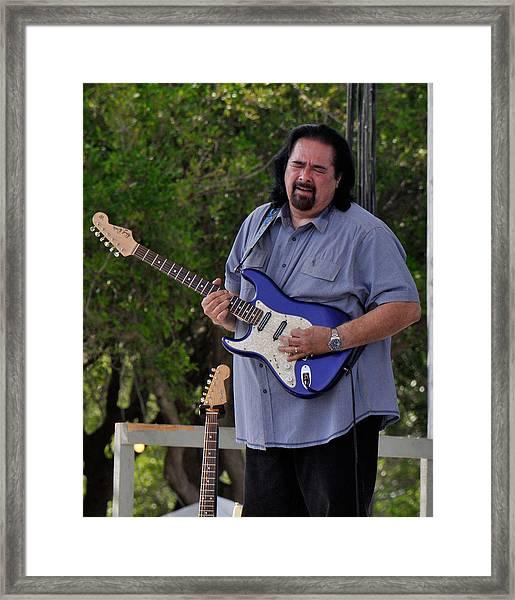 Coco Montoya And His Ocean Blue Fender American Standard Stratoc Framed Print