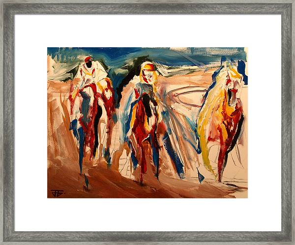 Coffee And Horses Framed Print