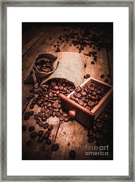 Coffee Bean Art Framed Print