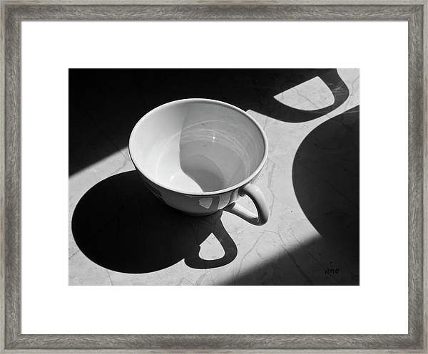Coffee Cup In Light And Shadow Framed Print