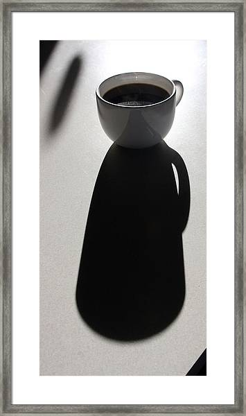 Coffee Cup Shadow Framed Print