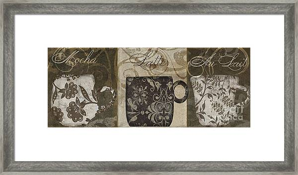 Coffee Flavors II Framed Print
