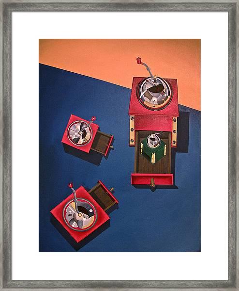Coffee Grinders Framed Print