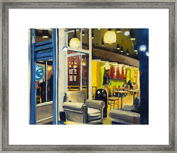 Coffee On 5th Ave Framed Print