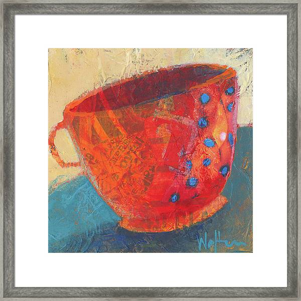 Framed Print featuring the painting Coffee Please by Shelli Walters