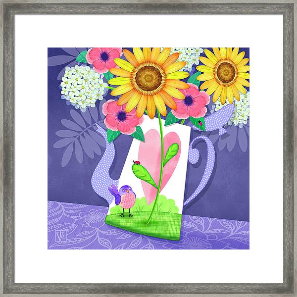 Coffee Pot Surprise Framed Print