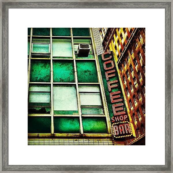 Coffee Shop Bar Framed Print