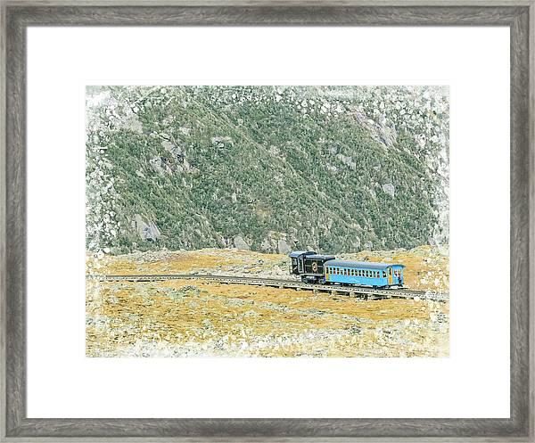 Cog Railroad Train. Framed Print
