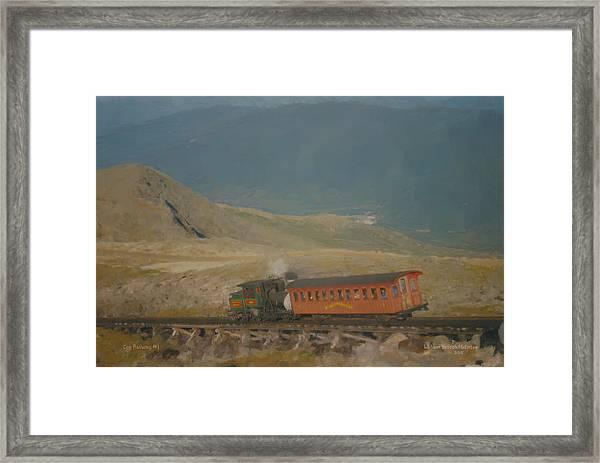 Cog Railway Mount Washington Framed Print