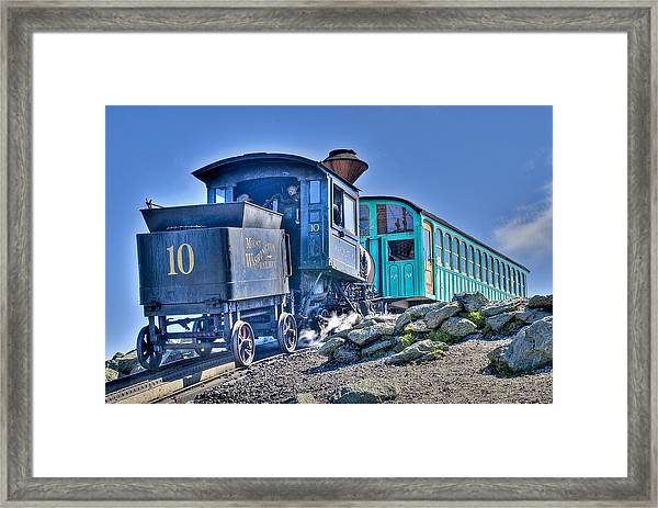 Cog Train Mount Washington Framed Print