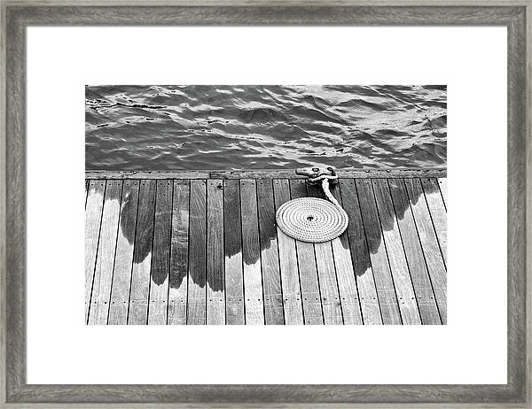 Coiled Rope Framed Print
